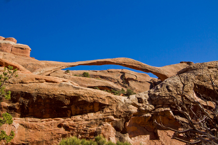 north window arch: Landscape Arch, Arches National Park, Moab, Utah, America, United States