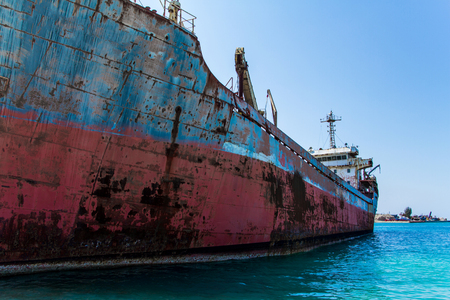 Abandoned ship for transport