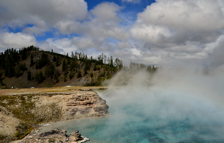 yellow stone: Yellow Stone Excelsior Geyser Crater