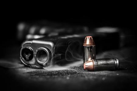 Bullets and pistol Glock .40