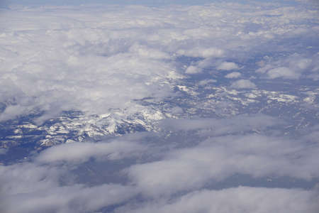 California Mountains Aerial View Stock fotó