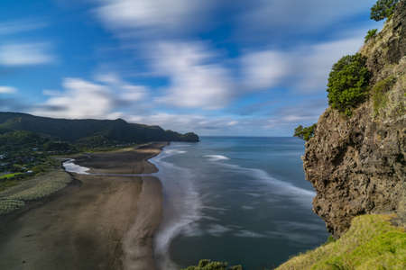 Piha Beach, New Zealand Stock Photo