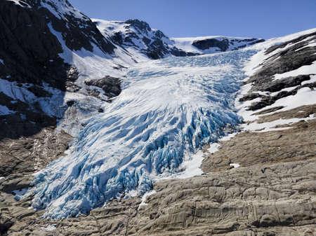 Glacier Engabreen, Norway Archivio Fotografico