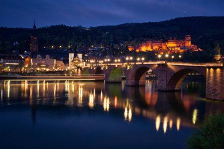 Blue hour in Heidelberg Фото со стока