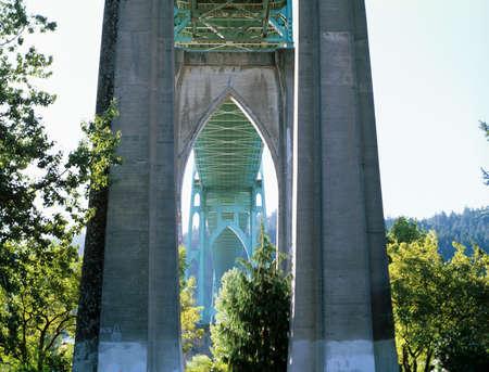 St. John's Bridge. Portland, Oregon. Standard-Bild
