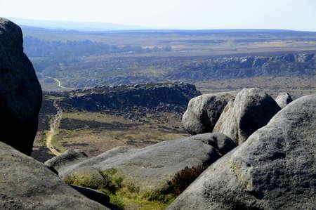 Carl Wark from Higger Tor, Peak District 写真素材