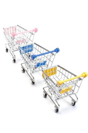 Shopping carts isolated on white background Stock Photo - 13565580