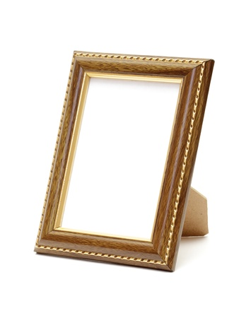 Empty photo frame isolated on white 版權商用圖片