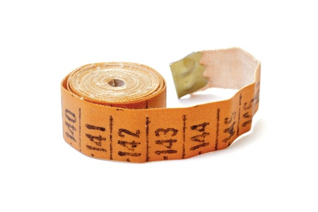 Measuring tape of the tailor isolated on white photo