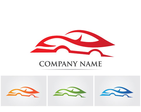 spoiler: Vector - Car silhouette logo