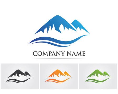 Mountain vector logo Illustration