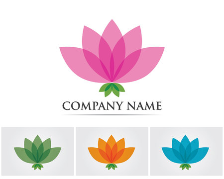 relaxation massage: Vector - Lotus Flower Sign for Wellness, Spa and Yoga. Vector Illustration