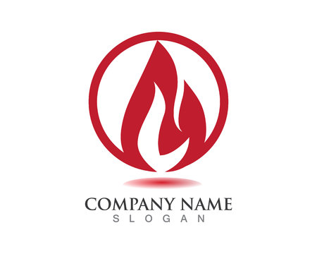 Fire flame logos