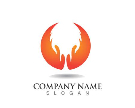 Fire flame logo Illustration