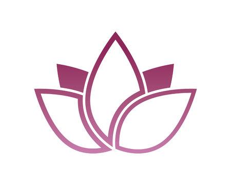 A Lotus flower spa logo Illustration