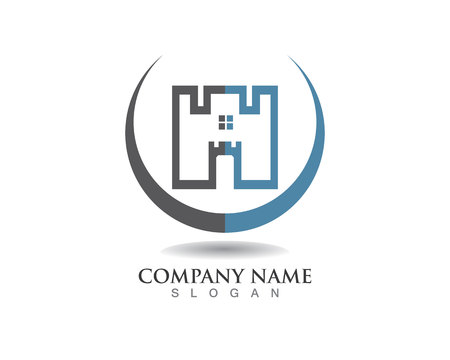modern house: Real estate and home buildings logo icons template