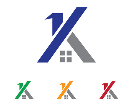 Real estate and home buildings   icons template Illustration