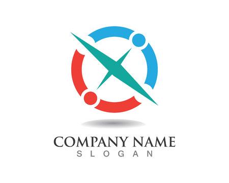 scale icon: Compass symbols logo Illustration