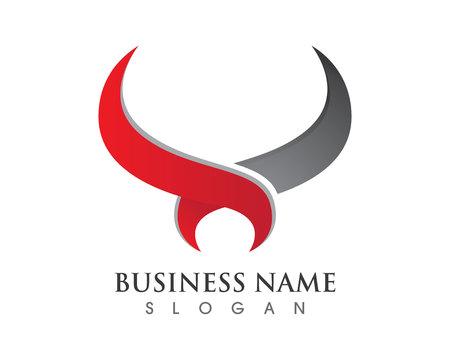 Bull horn logo and symbols