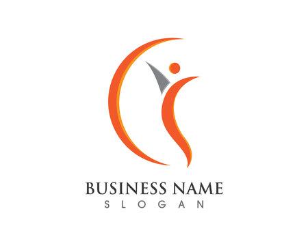 Logo template - successful people