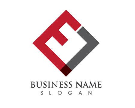 E letter monogram Illustration