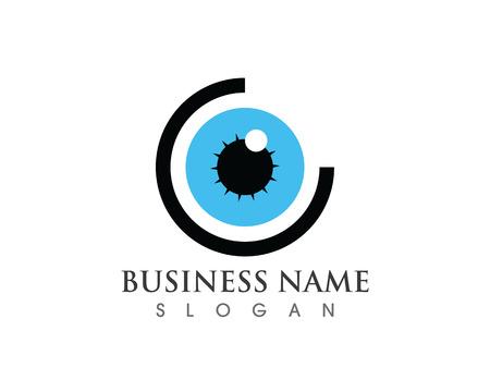 Vector - Eye care logo vector Illustration