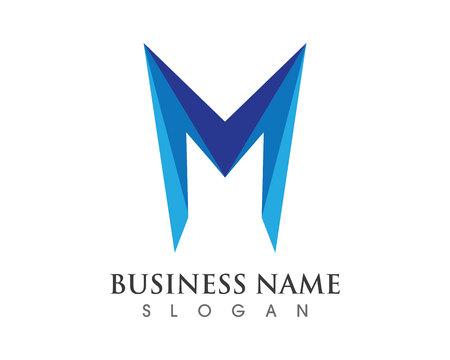 M 글자 로고