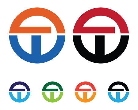 T letters logo