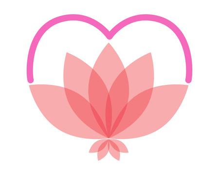 Lotus love logo Illustration