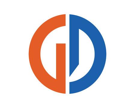 GD letters logo