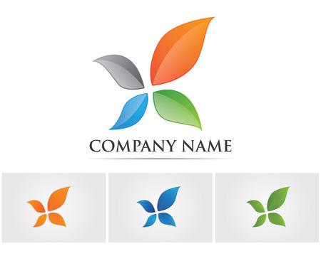 Leaf flowers logo