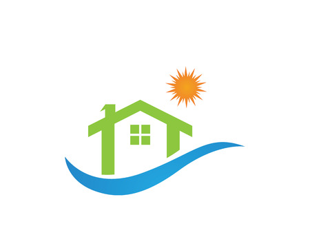 Home and building logo  イラスト・ベクター素材