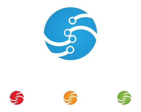Kabelvezel-logo Stock Illustratie