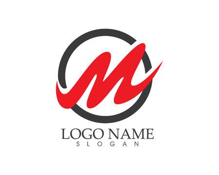 M Buchstaben Logo Standard-Bild - 76523212