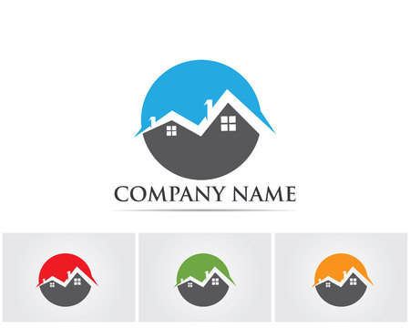 stovepipe: Real estate and home buildings logo icons template