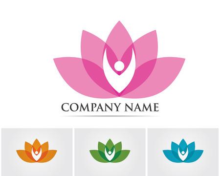 Lotus flowers logo spa