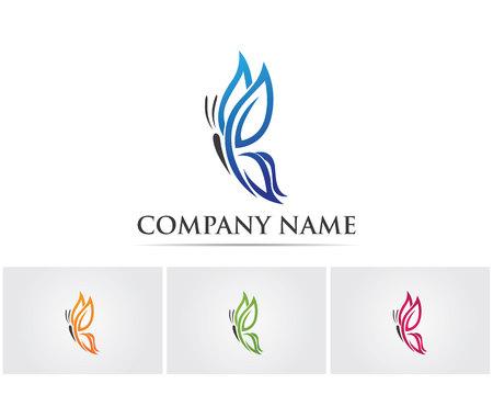 Butterfly logo Stock Illustratie