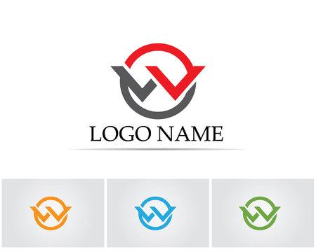 W letters logo Reklamní fotografie - 76949461