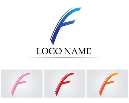 F letters  logo Illustration