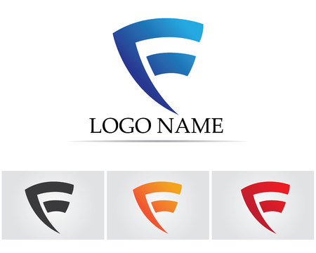 looped shape: F letters  logo Illustration