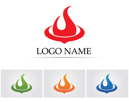 flammable warning: Fire flame nature logo and symbols icons template