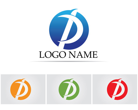Business corporate letter P template icon