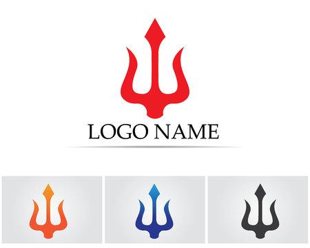 Magic trident symbols template.