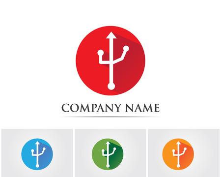 led display: Port usb logo Illustration