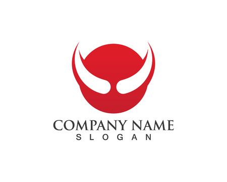 Bull horn logo and symbols Stock Vector - 81607191