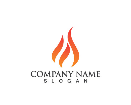 Fire flame logo and symbols Illustration
