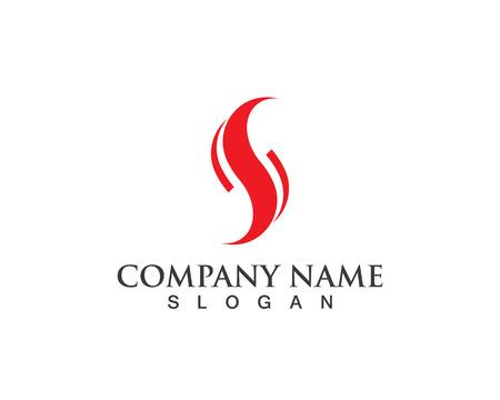 Zakelijke bedrijfslogo S logo ontwerp vector Stock Illustratie