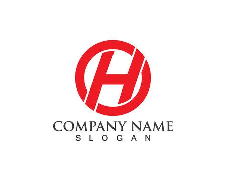 h logo lettre entreprise vecteur icône