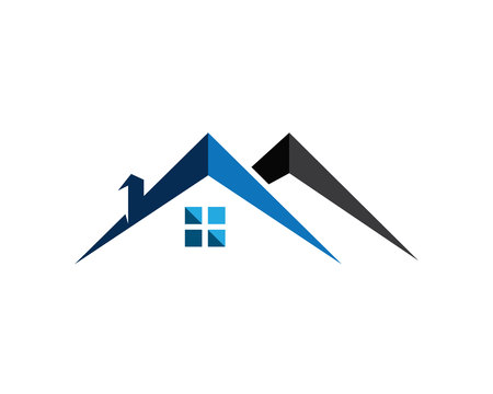 Real estate and home buildings emblem icons template