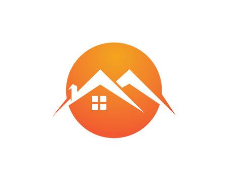 Home logo and symbols Illustration